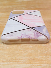Load image into Gallery viewer, Pink & Gold Geometric iPhone Case
