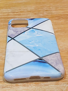 Blue & Silver Geometric iPhone Case