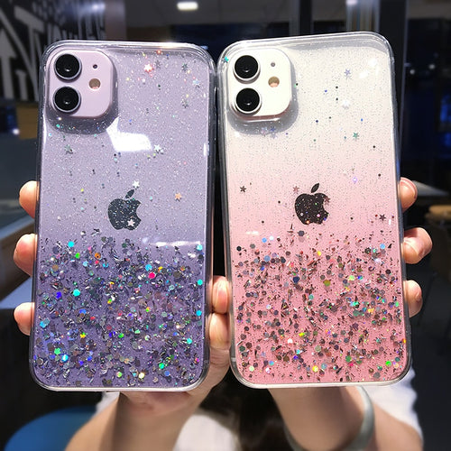 Clear Glitter Phone Case For iPhones