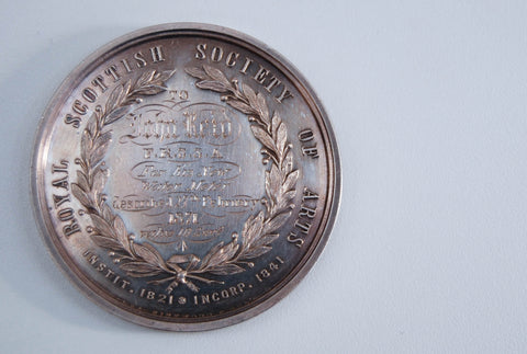 Royal Scottish Society of Arts Keith Medal to John Reid FRSSA dated 1871