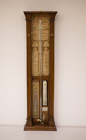 Late Victorian Admiral Fitzroy Barometer by EG Wood of London
