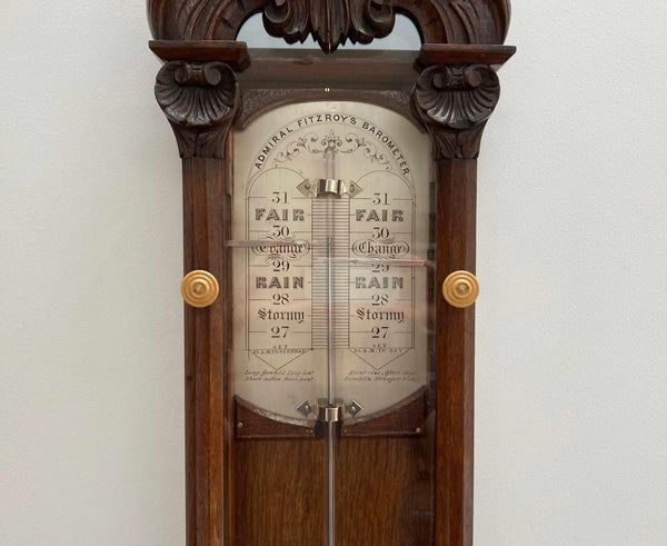 Admiral Fitzroy Barometer with Silvered Scale by Negretti & Zambra