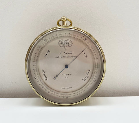 Mid Victorian Aneroid Barometer by Louis Casella of London