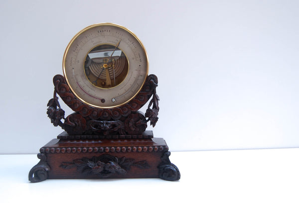 Naudet Barometer on Stand Retailed by EG Wood Cheapside London - Formerly Edwin Banfield Collection
