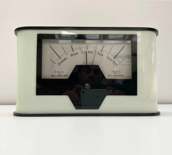 Large Art Deco Aneroid Barometer by Weathercraft