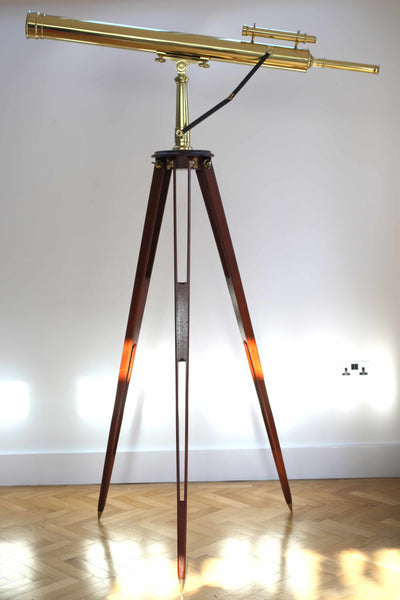 Late Victorian Astronomical Refracting Telescope on Stand by William Wray London