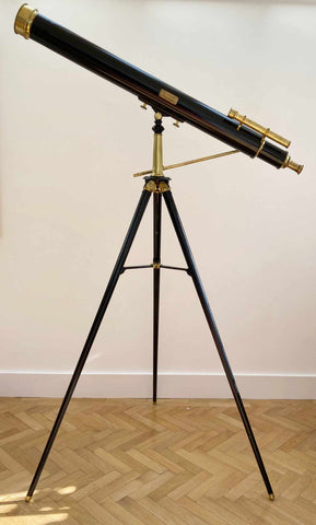 Mid Victorian Telescope on Stand by JT Slugg of Manchester