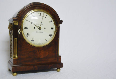 "English Regency Double Fusee Bracket Clock with 8"" Dial by Barwise London"