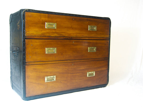 Very Rare Model: Late Victorian Campaign Chest