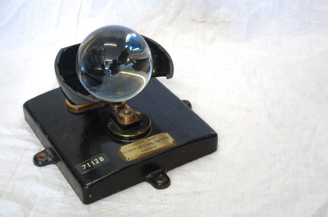 Late Victorian Campbell Stokes Sunshine Recorder by J Hicks, London