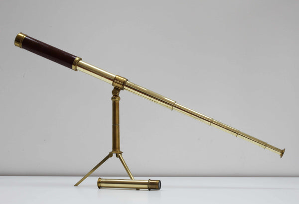 George IV Cased Pancratic Eyetube Telescope on Stand by Dollond of London