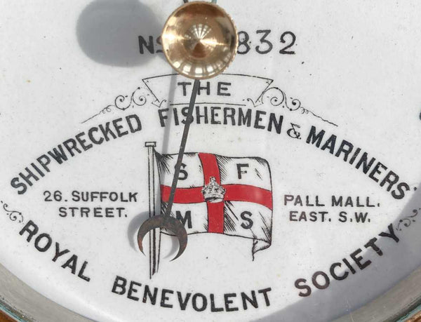 Cased Presentation Barometer for The Shipwrecked Fishermen & Mariners Society by Dollond London