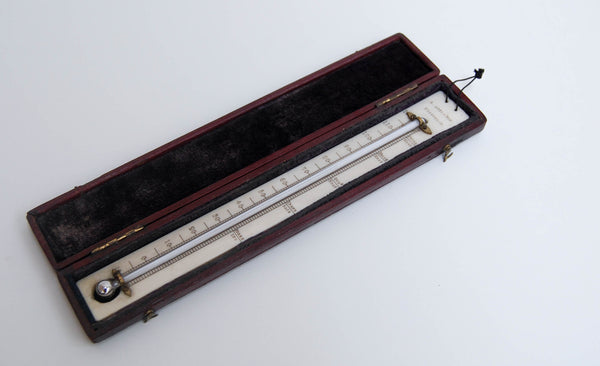 William IV Leather Cased Travelling Thermometer by Alexander Adie & Son Edinburgh
