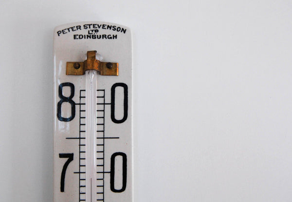 Art Deco Ceramic Wine Cellar Thermometer by Peter Stevenson Ltd of Edinburgh