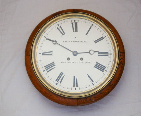 "Victorian 15"" Dial Oak Striking Wall Clock by Charles Frodsham"
