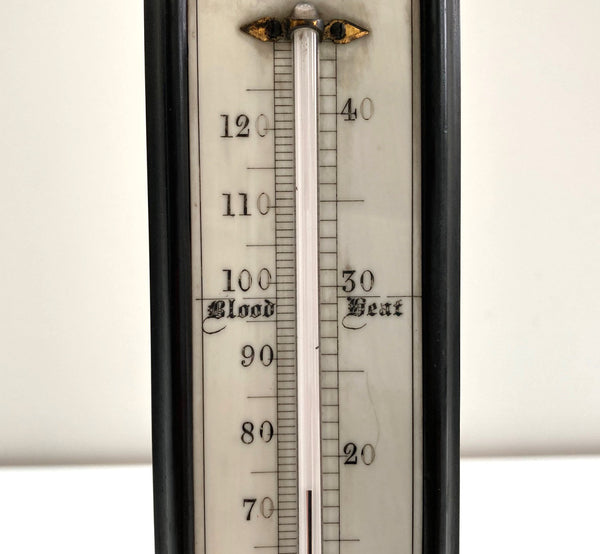 Large Victorian Desk Thermometer by Henry Hughes & Son of 59 Fenchurch St, London