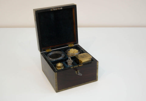 Doctor Graham's Early Nineteenth Century Rosewood Cased Blood Letting Set