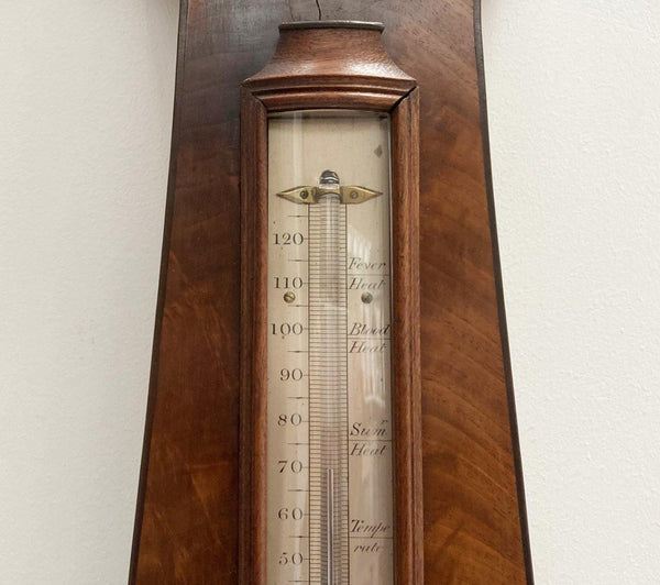 George IV Mahogany Wheel Barometer by Alexander Adie Edinburgh