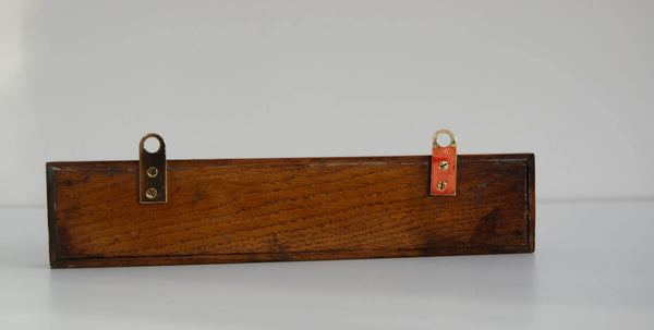 Early nineteenth Century Oak Cased Rutherford Type Minimum Thermometer by Adie & Son Edinburgh