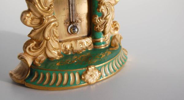 William IV Porcelain Desk Thermometer by Minton Potteries, Staffordshire.