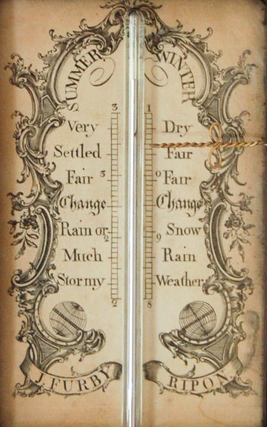A George IV Period Mahogany & Gilt Stick Barometer by J. Furby of Ripon.