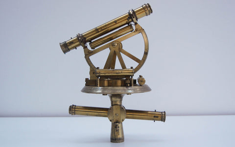 George III Cased Altazimuth Double Telescope Theodolite by Miller & Adie of Edinburgh