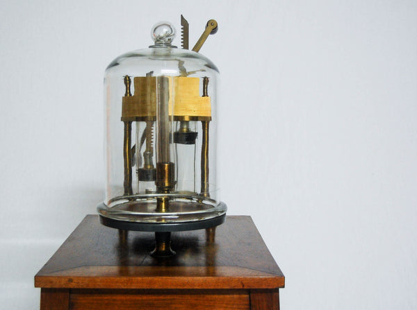 William IV Period Table Mounted Vacuum Air Pump by Enrico Federico Jest of Turin