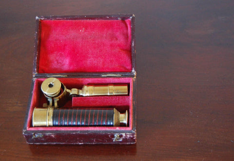 Early Victorian Cased Student's Field Telescope by WE & F Newton, Fleet Street, London