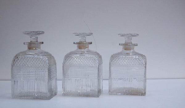Early Victorian Campaign Triple Decanter Set
