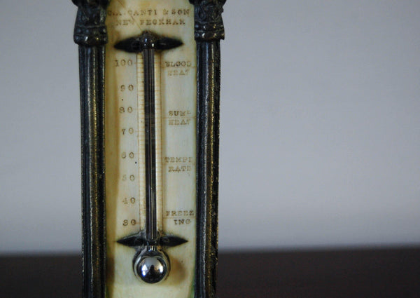 Early Victorian Desk Thermometer by CA Canti & Son, New Peckham, London