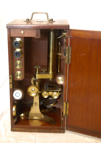 Victorian Cased Monocular Microscope by Watson & Son of 313 High Holborn, London