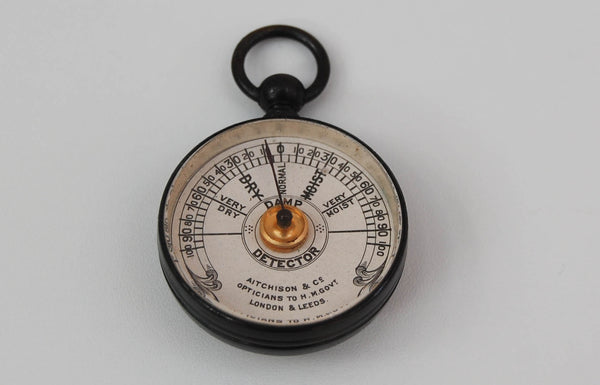 Edwardian Cased Pocket Damp Protector or Hygrometer by Aitchison & Co of London & Leeds