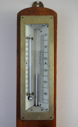 Edwardian Mining Stick Barometer by Thomson Skinner & Hamilton of Glasgow