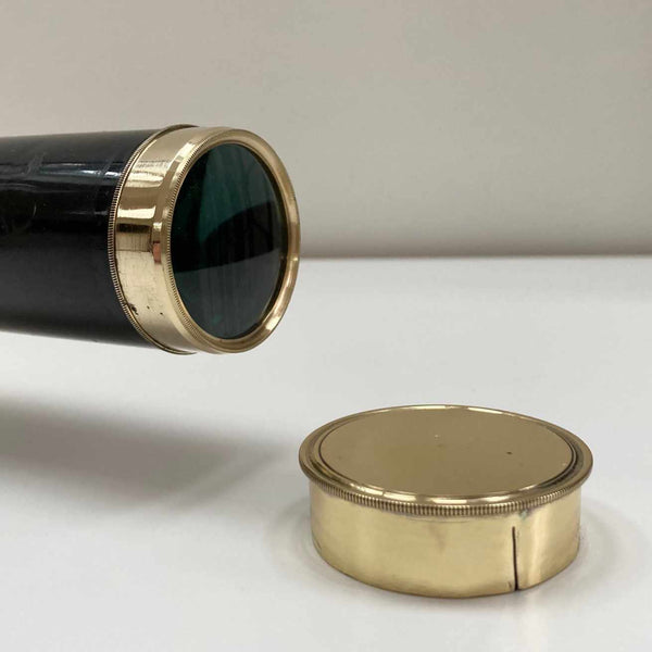 George III Eight Draw Telescope with Black Lacquer Finish by Thomas Blunt London
