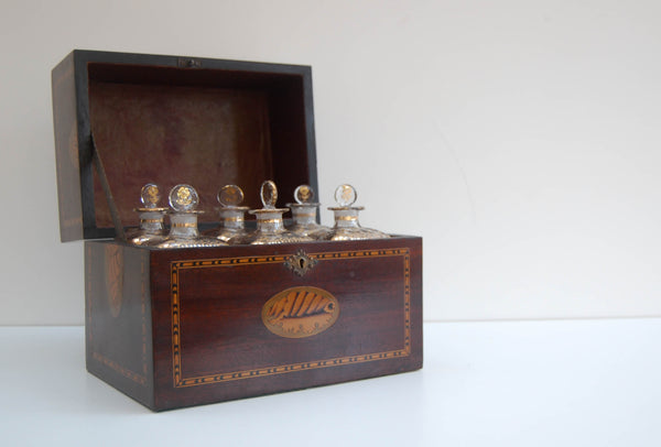 Late Eighteenth Century Travelling Spirit Decanter Set