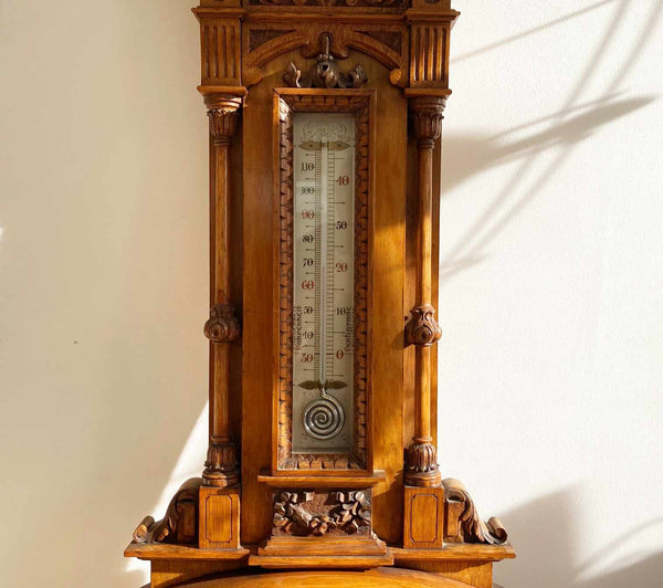 Monumental Victorian Exhibition Aneroid Barometer by Dollond of London
