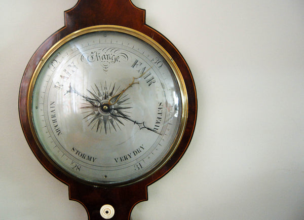 William IV Period Five Dial Mahogany Wheel Barometer by Joseph Cetti & Co of Holborn, London