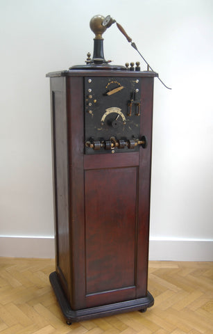 Freestanding D'Arsonval Electrotherapy or Diamerthy Machine by Victor Electric Corps