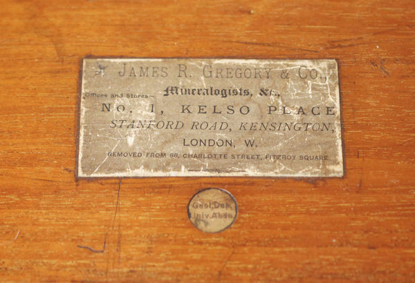 Late Victorian John J Griffin Field Mineralogists Set Retailed by James R Gregory & Co