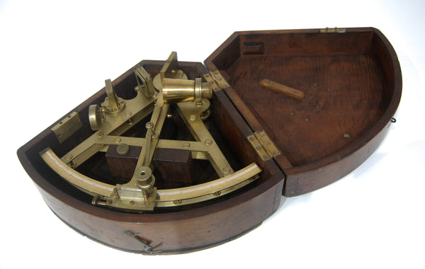 George III Cased Double Framed Sextant by Robert Brettell Bate of Poultry, London