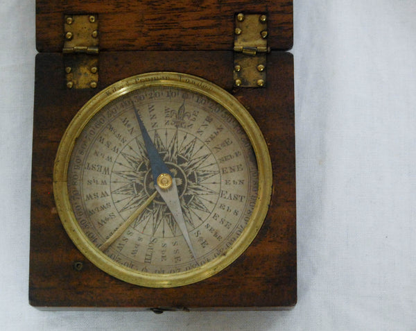 Late Eighteenth Century Cased Travelling Compass by Edward Penman, London