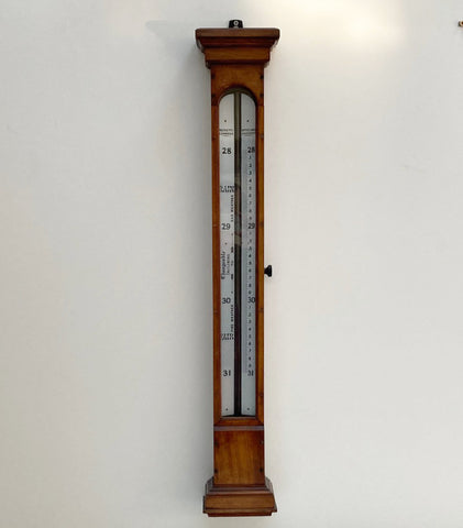Victorian Long Range Glycerine Barometer by Negretti & Zambra London