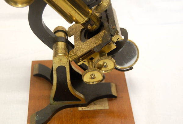 Victorian Cased Binocular Microscope by H&W Crouch of 64A Bishopsgate St, London