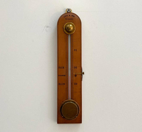 A Hermetically Sealed Alcohol Barometer by Adie & Son Edinburgh