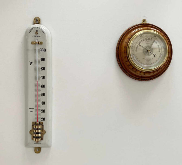 Victorian Large Scale Porcelain Thermometer by Negretti & Zambra London