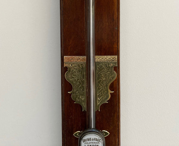 Late Victorian Stick Barometer by Dring & Fage of London