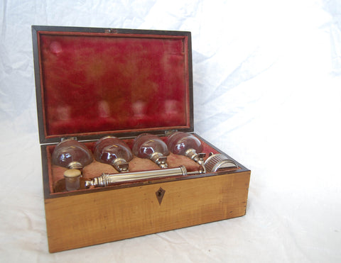 Late Nineteenth Century French Cased Medical Cupping Set