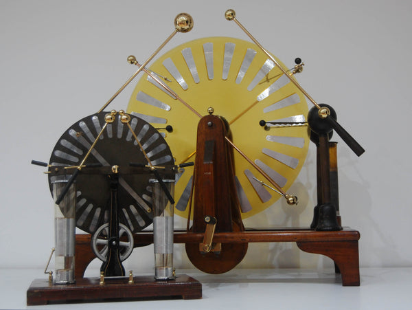 "Large Late Victorian Wimshurst Machine with 18"" Discs"