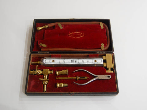 Edwardian Cased Inspector's Gas Meter Pressure Gauge by Parkinson and W&B Cowan Ltd