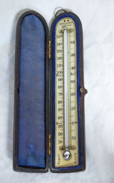 Nineteenth Century Cased Travelling Thermometer by Dollond of London